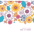 colorful oriental flowers horizontal frame vector image vector image