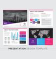 company presentation templates vector image vector image