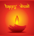 creative happy diwali festival greeting design vector image vector image