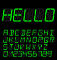 digital font sign retro alphabet vector image vector image
