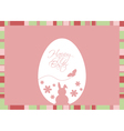 easter egg with greeting on a pink background vector image