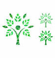 eco man mosaic icon humpy elements vector image vector image
