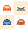 egyptian temple abu simbel icon set in flat and vector image