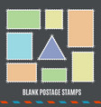 empty template blank postage stamps set vector image