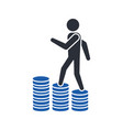 financial growth increase in human income vector image vector image