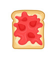flat icon of tasty sandwich toasted bread vector image vector image