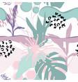 floral background modern fashion design vector image vector image