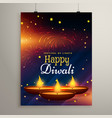flyer design for diwali festival diwali greeting vector image vector image