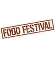 food festival stamp vector image vector image