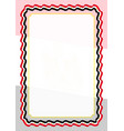frame and border of ribbon with egypt flag vector image