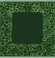 frame with floating soap or soda bubbles pattern vector image
