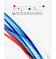 Fresh blue and red wave line vector image vector image