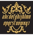 Glitter gold Gothic Font vector image vector image