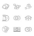 global comunity icon set outline style vector image vector image