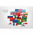 group og twenty g20 world summit concept vector image