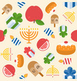 hanukkah with menorah seamless pattern backgound vector image