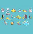hotel service isometric set vector image vector image