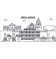 india jaipur architecture line skyline vector image