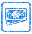 Iota banknotes framed stamp vector image