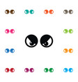 isolated eyeball icon view element can be vector image vector image