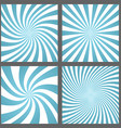 Light blue spiral and ray burst background set vector image vector image