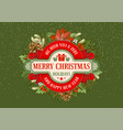 merry christmas and happy new year greeting design vector image vector image