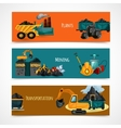 Mining Banners Set vector image vector image
