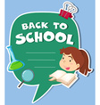 Paper design with back to school theme vector image vector image