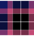 Pink blue check plaid seamless pattern vector image vector image