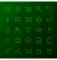 Programming Skills Line Icons vector image vector image