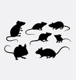 Rat and mice silhouettes