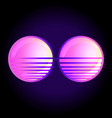 round sun glasses over retro vector image
