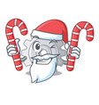 santa with candy gear icon cartoon the design best vector image vector image