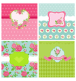 set floral card - floral shabchic theme vector image vector image