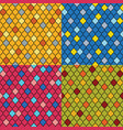 set of colorful moroccan seamless patterns vector image