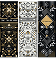 SET OF THREE DECORATIVE DESIGNS vector image vector image
