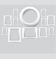 set of white photo frames collection of vector image vector image