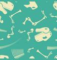 skeleton dinosaur seamless pattern dino bones vector image