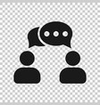 speak chat sign icon in transparent style bubble vector image