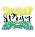 spring typography icon calligraphic social media vector image vector image