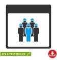 Staff Calendar Page Eps Icon vector image vector image