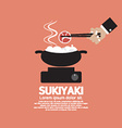 Sukiyaki Japanese Dish vector image vector image