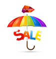 Summer Sale theme with colorful umbrella vector image