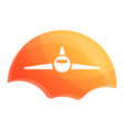 sunrise air plane icon cartoon style vector image vector image