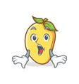 surprised mango character cartoon mascot vector image vector image