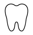 tooth line icon simple 96x96 pictogram vector image