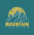 travel banner with mountains and flying eagle vector image vector image