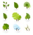 Tree Symbols Set vector image vector image