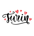 turin france calligraphy modern city lettering vector image