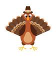 turkey happy thanksgiving cartoon vector image